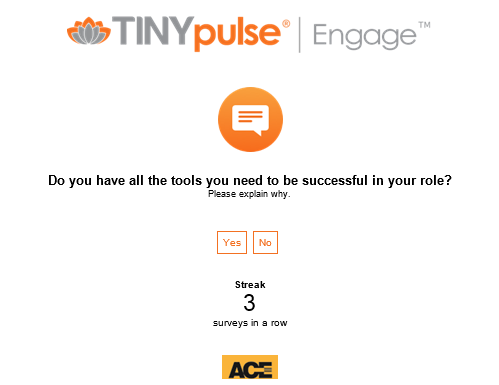 Tiny Pulse engagement survey